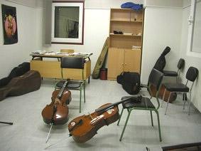 Aula de violoncello