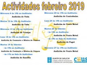 ACTIVIDADES MES DE FEBREIRO