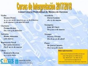 Cartel informativo cursos de interpretación