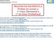 PROBAS DE ACCESO Ó CONSERVATORIO PARA O CURSO 2020-2021