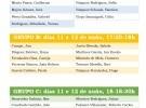 Listaxe das Sesións Teórico Prácticas