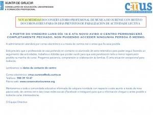ÚLTIMA HORA CORONAVIRUS (13-3, 19:00 Horas)
