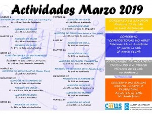 ACTIVIDADES DO MES DE MARZO 2019