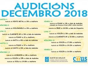Audicións Decembro 2018
