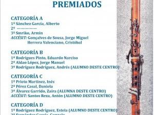 V CONCURSO DE CLARINETE (Premios)