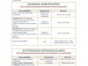 INFORMACIÓN HORARIOS AGRUPACIÓNS CURSO 2019-2020